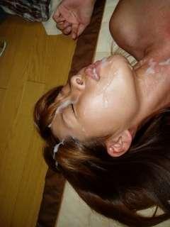 【顔射エロ画像】濃いザーメンぶっかけられたセフレ…陵辱感に満ちた顔面射精画像が超興奮するwwww その1