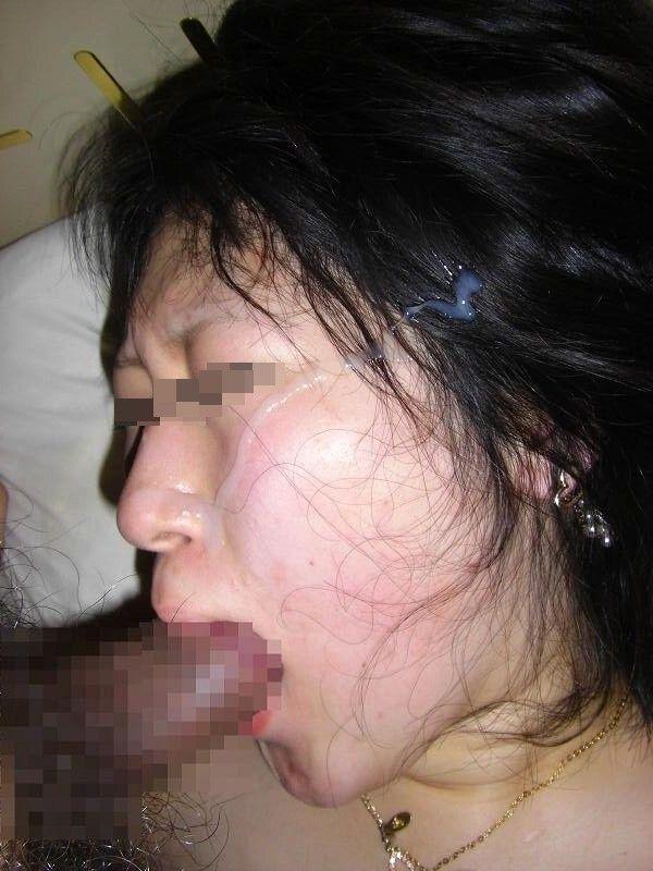 【顔射エロ画像】濃いザーメンぶっかけられたセフレ…陵辱感に満ちた顔面射精画像が超興奮するwwww その6