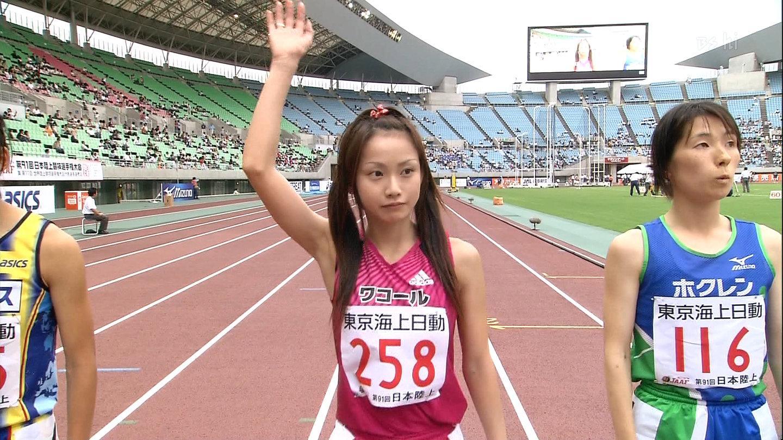 【女子陸上エロ画像】ユニホームから露出する肉体がなんともそそる女子陸上選手の恵体wwww その9