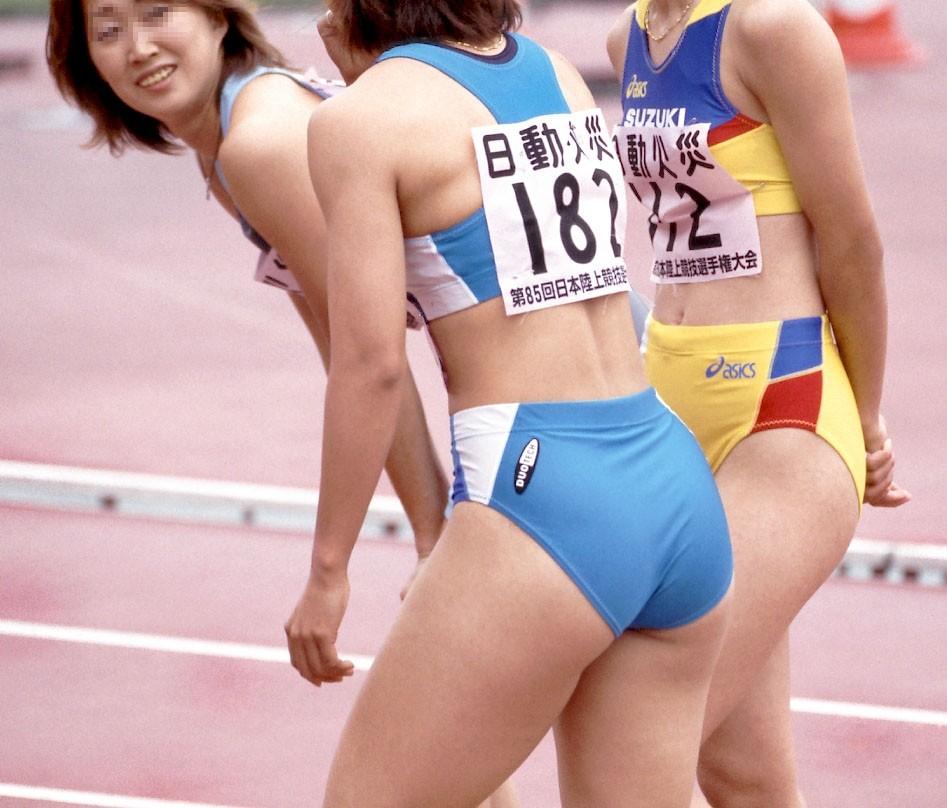 【女子陸上エロ画像】ユニホームから露出する肉体がなんともそそる女子陸上選手の恵体wwww その10