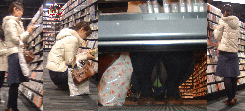 【棚下パンチラ画像】お正月はDVDでも借りてのんびり過ごしたい…そんな女の子を隠し撮りする棚下パンチラwww その10