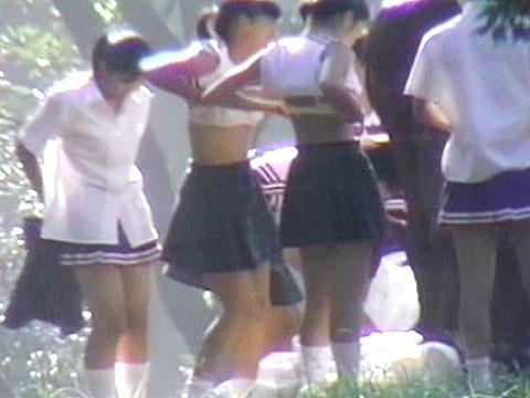 【JK着替え盗撮画像】誰が盗撮したし!?部活や体育で着替える女子高生の姿に勃起が止まらないwww その10