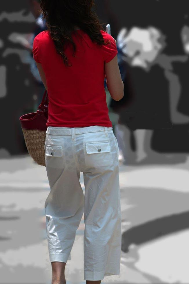 【透けパン透けブラ画像】春が近づくと楽しみになる透けパン・透けブラ!素人のプライベートな下着透け透け街撮り画像 その9