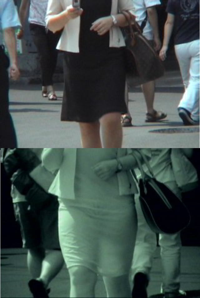 【赤外線盗撮エロ画像】ブラジャーもパンティも透け透け!盗撮されてるのに気づきもしない…赤外線カメラで撮った街撮り画像がやばすぎる その2