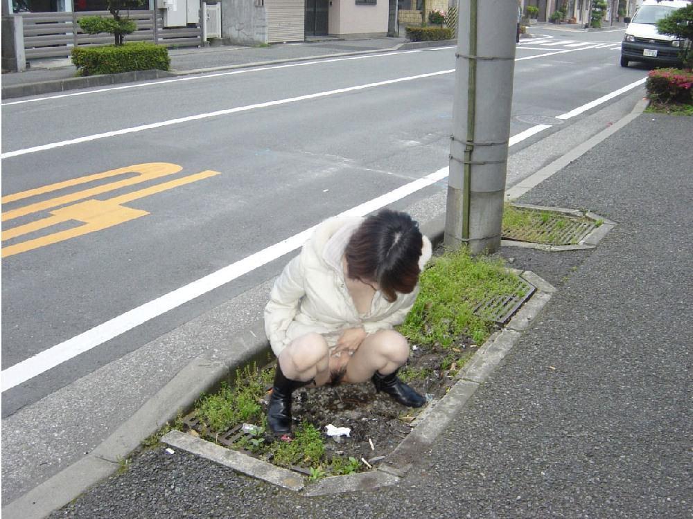 【野外放尿エロが図】野外の開放感に魅了されてしまった女たち…ドン引きレベルで豪快な野外放尿画像 その6