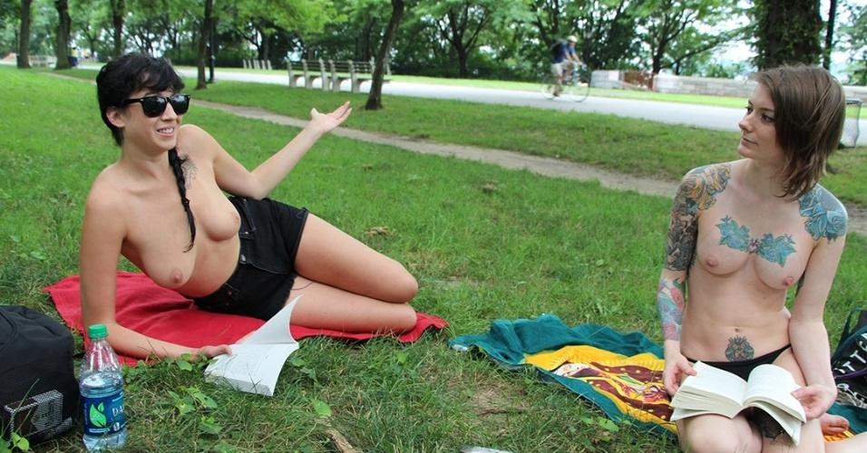 トップレスが合法化された海外の公園…真っ昼間からおっぱいまる出しの美女で溢れてるwww日本も見習ってほしい海外の文化はこれ! その4