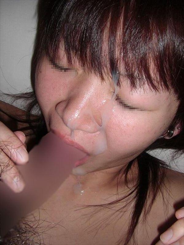 男の支配欲を満たすぶっかけ!!ガチの彼女やセフレにどろどろの精子を浴びせた顔面射精画像 その5