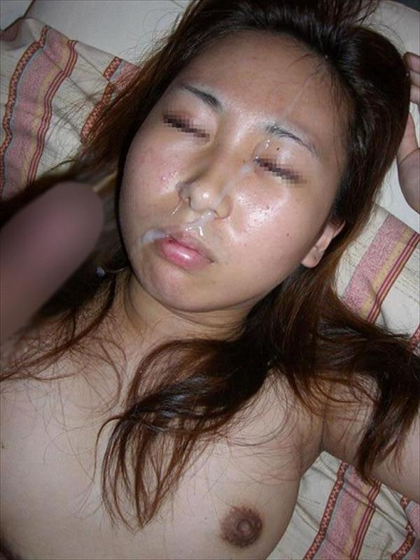 男の支配欲を満たすぶっかけ!!ガチの彼女やセフレにどろどろの精子を浴びせた顔面射精画像 その8